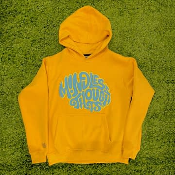 Embossed Classic Mindless Thoughts Hoodie (Yellow)